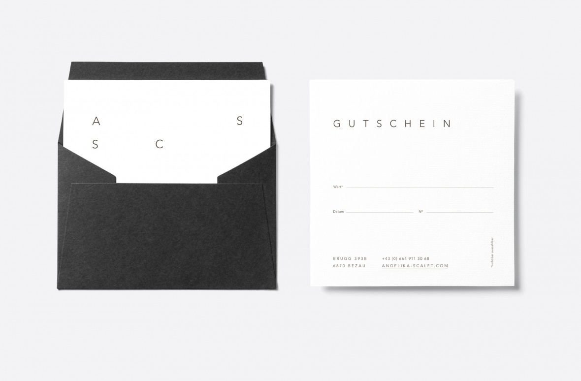 Roswitha Schneider, Angelika Scalet Skinconcept Grafik, Black and White, Corporate Identity, Signage, Businesscard, Design, reduced, Icons, Webdesign, Bregenzerwald