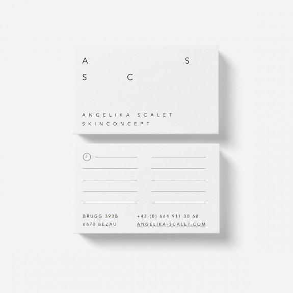 Roswitha Schneider, Angelika Scalet Skinconcept Grafik, Black and White, Corporate Identity, Signage, Businesscard, Design, reduced, Icons, Webdesign